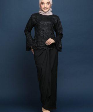 Zara Lace Kurung (Black)
