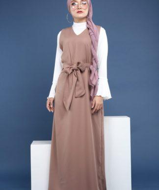 Bella Dress (Brown)