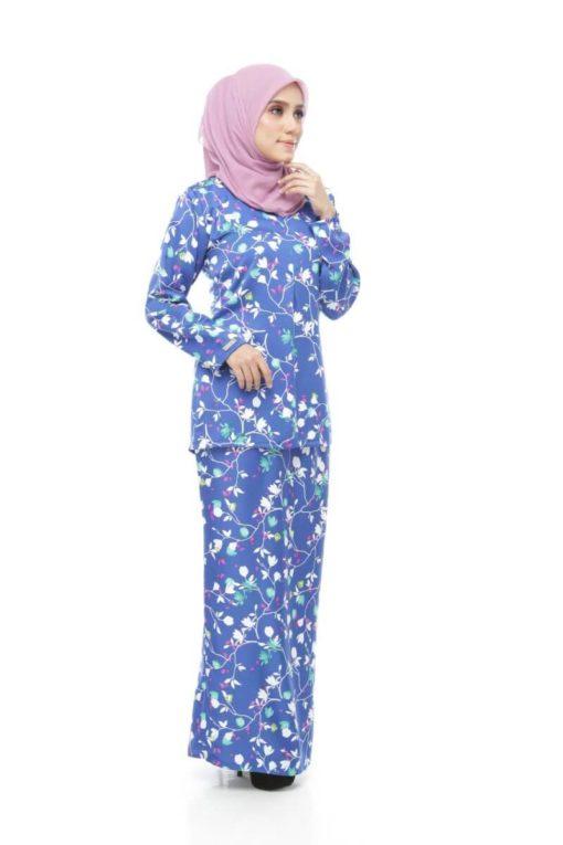 Ameena Kurung Teal Blue