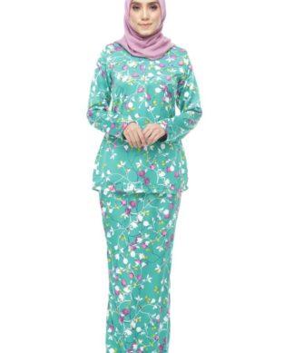 Ameena Kurung Turquoise Green