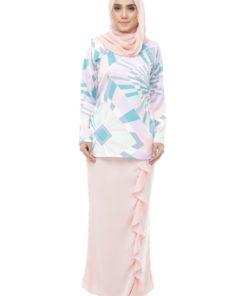 Fateema Kurung Peach