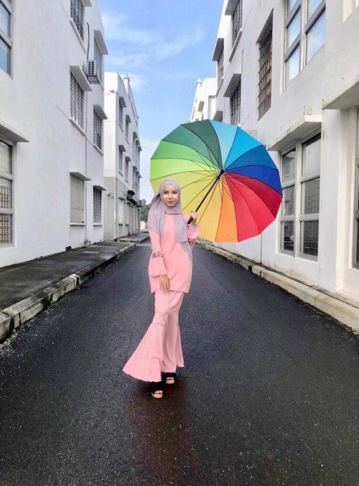 Sarah Kurung Dusty Pink